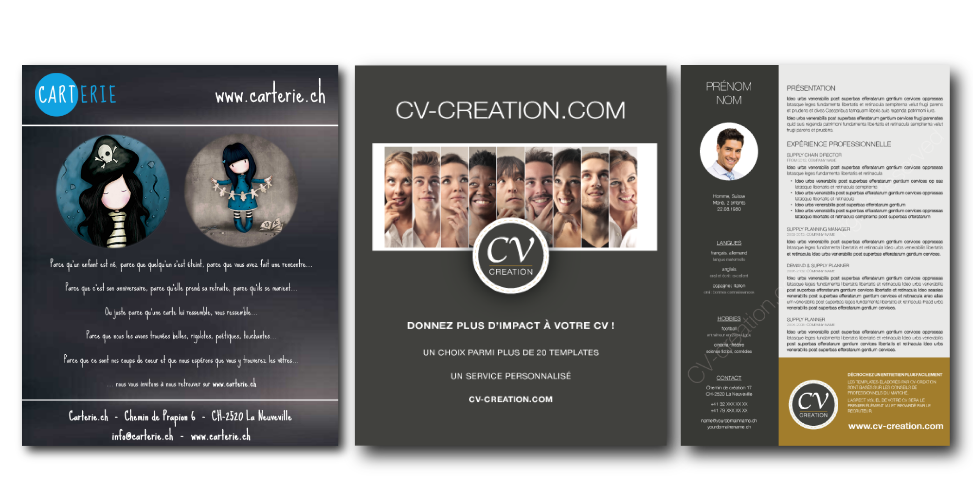 personnes cv creation